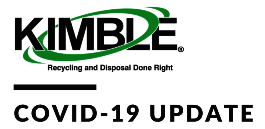 Kimble COVID-19 Update