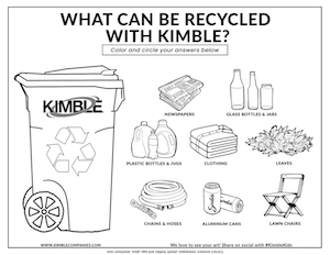 Download the Kimble Recycling Right Coloring Page