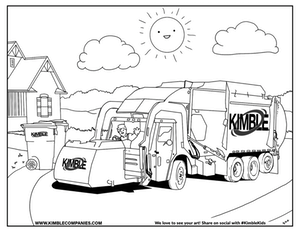 Garbage Truck Transportation Coloring Pages for kids, printable free |  coloing-4kids.com | 232x300