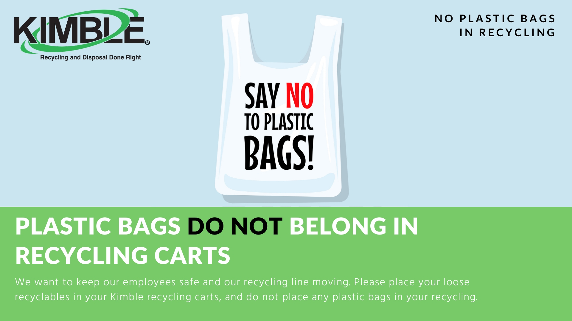 Say NO to plastic bags